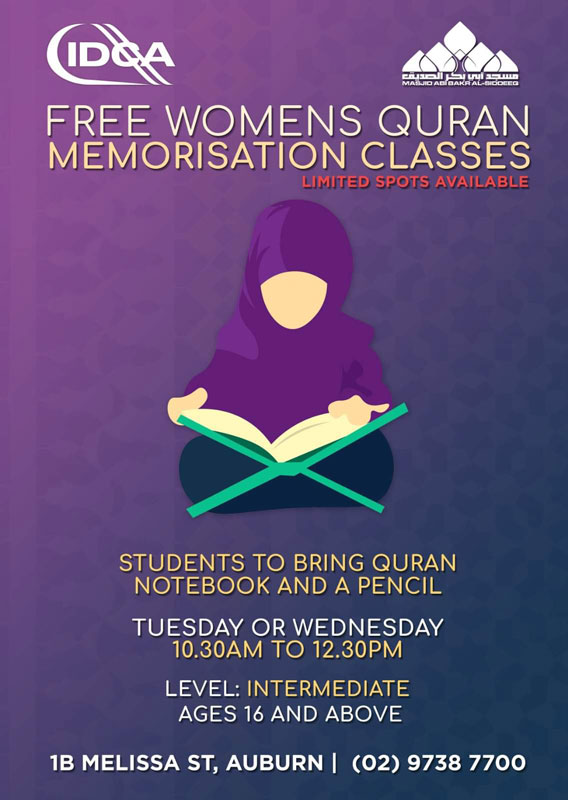 Women's Quran Memorisation Classes