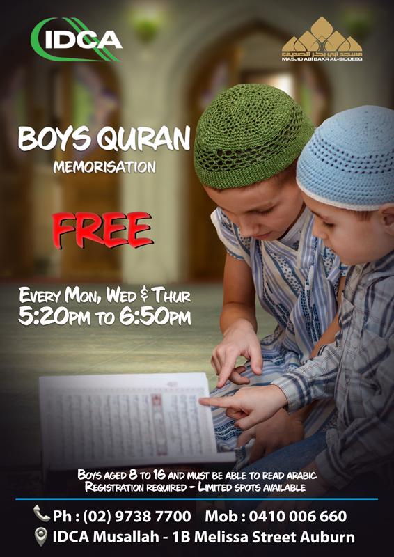 Boys Quran Memorisation